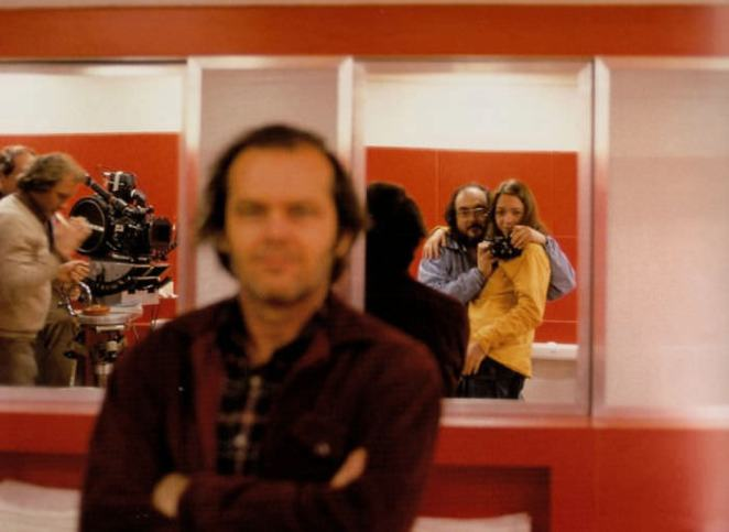 """Stanley Kubrick On The Set Of """"The Shining"""" With His Daughter. Apparently, Jack Nicholson Thought Kubrick Was Taking A Photo Of Him (1980s)"""