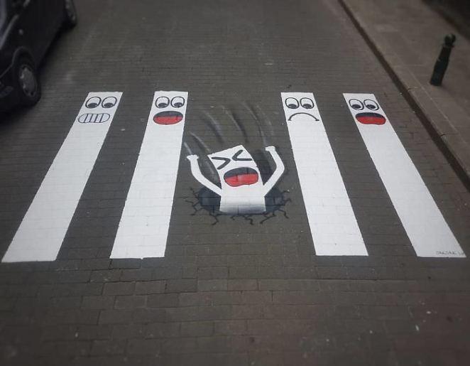 Street art on crosswalks