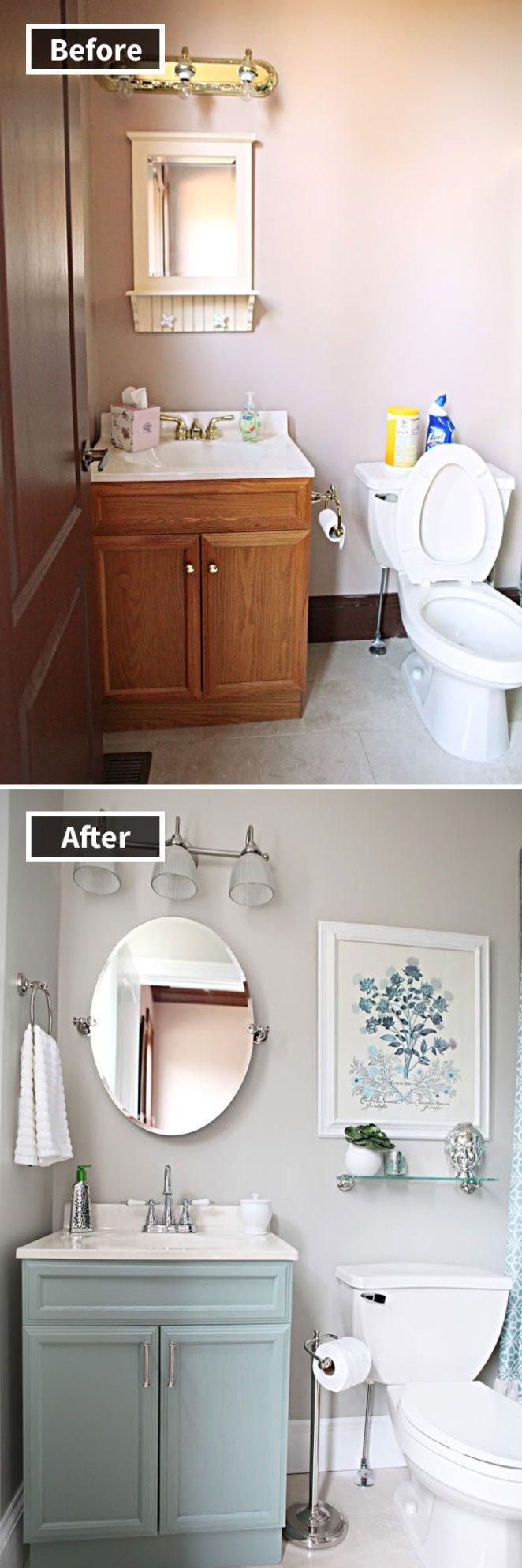 Office Bathroom Reveal