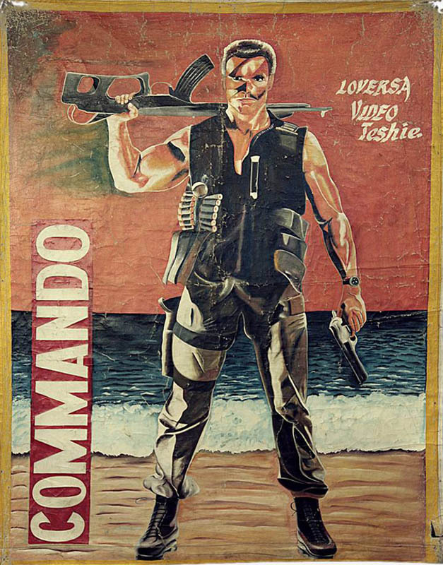 commando Bootleg Movie Posters from Ghana