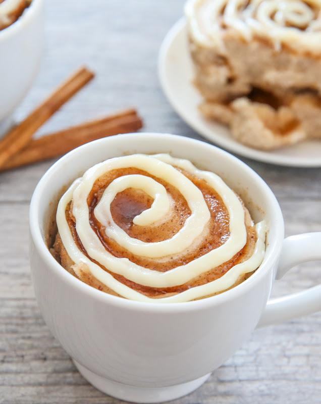 Resultado de imagen para cinnamon roll in a mug