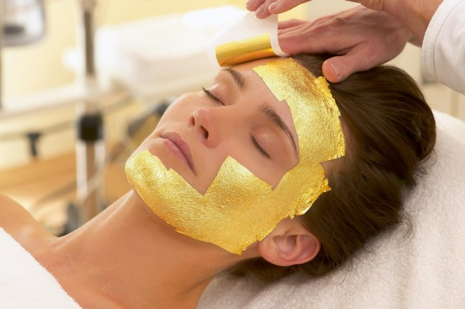 Resultado de imagen para gold leaf facial treatment
