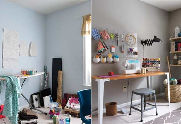 Ateliê, craft room ou home office: organize!