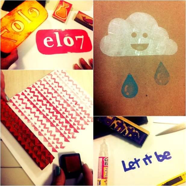 Craft Day Elo7: hoje é dia de carimbar!