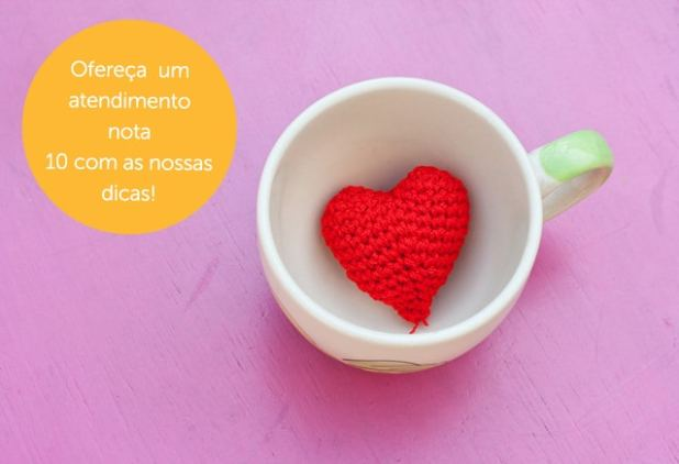red heart in cup