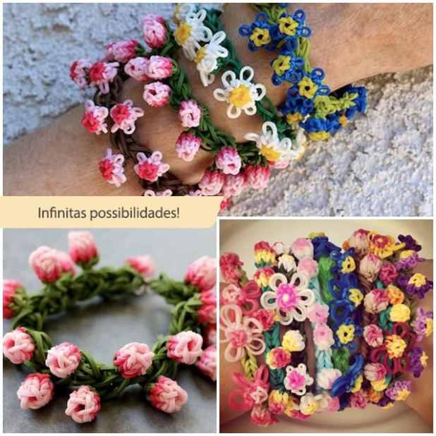 rainbow loom flores