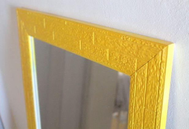 Como pintar moldura de espelho com tinta spray