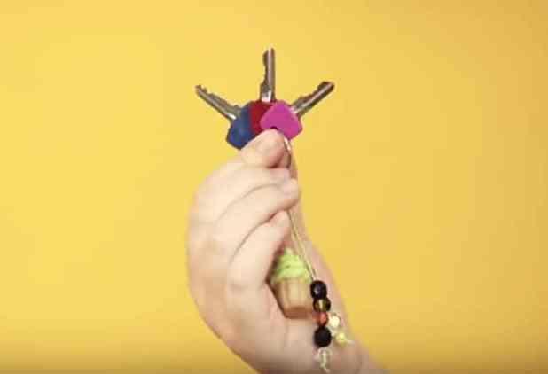 Pintar chaves com esmalte