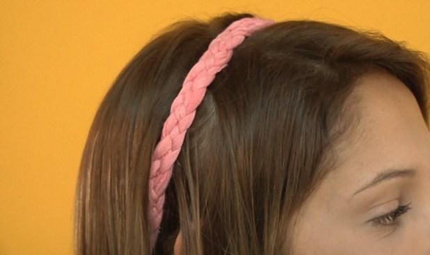 Headband com fio de malha
