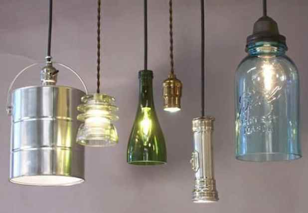 luminárias criativas com reaproveitamento 3