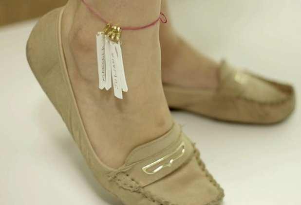 tornozeleira para noiva fazer