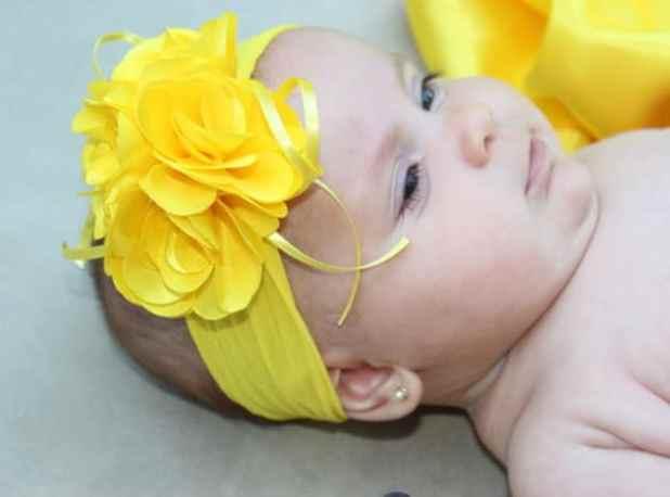 faixa de cabelo para bebê