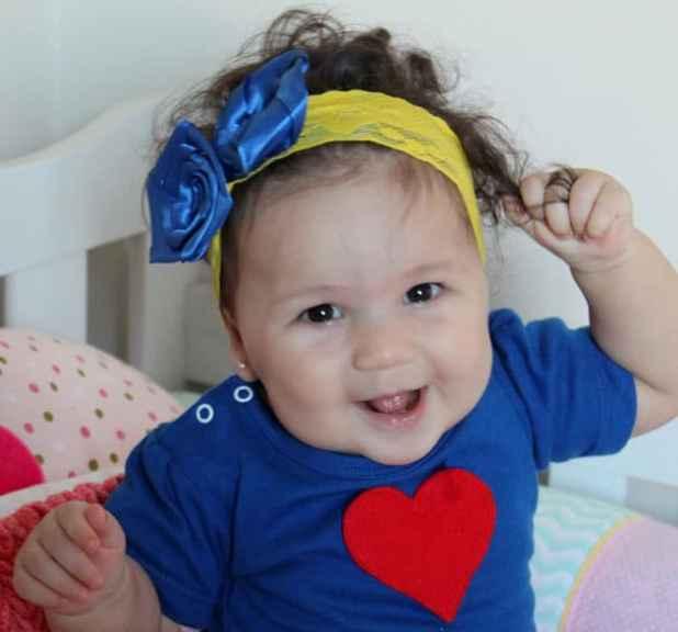 faixa de cabelo bebe