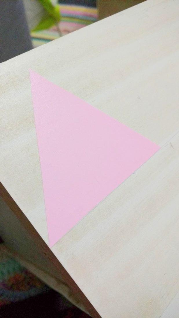 Crie um molde em formato de triângulo