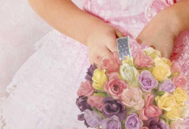 Bola de flores para daminha de honra