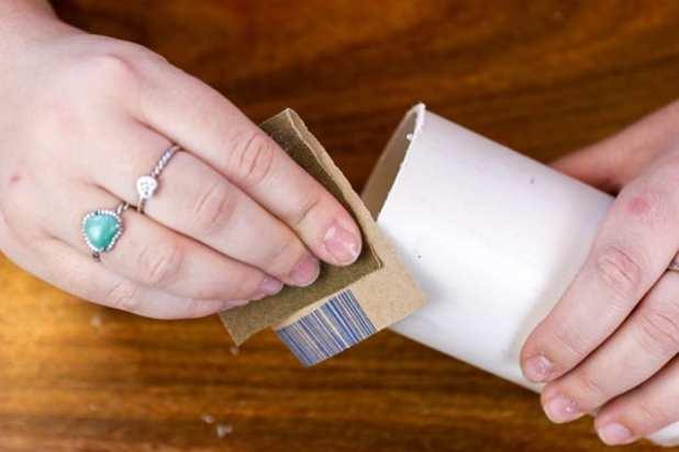 porta-canetas de PVC lixar