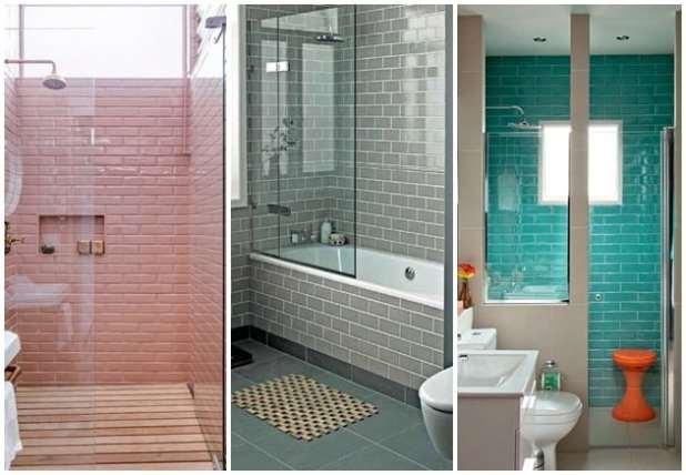 Azulejo metr tend ncia na decor da cozinha e banheiro - Azulejo tipo metro ...