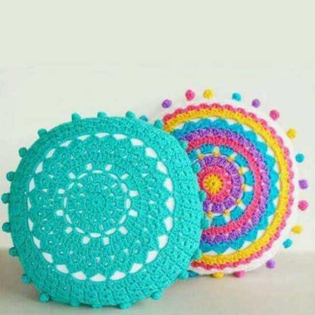 Mais de 25 ideias de crochê na decoração