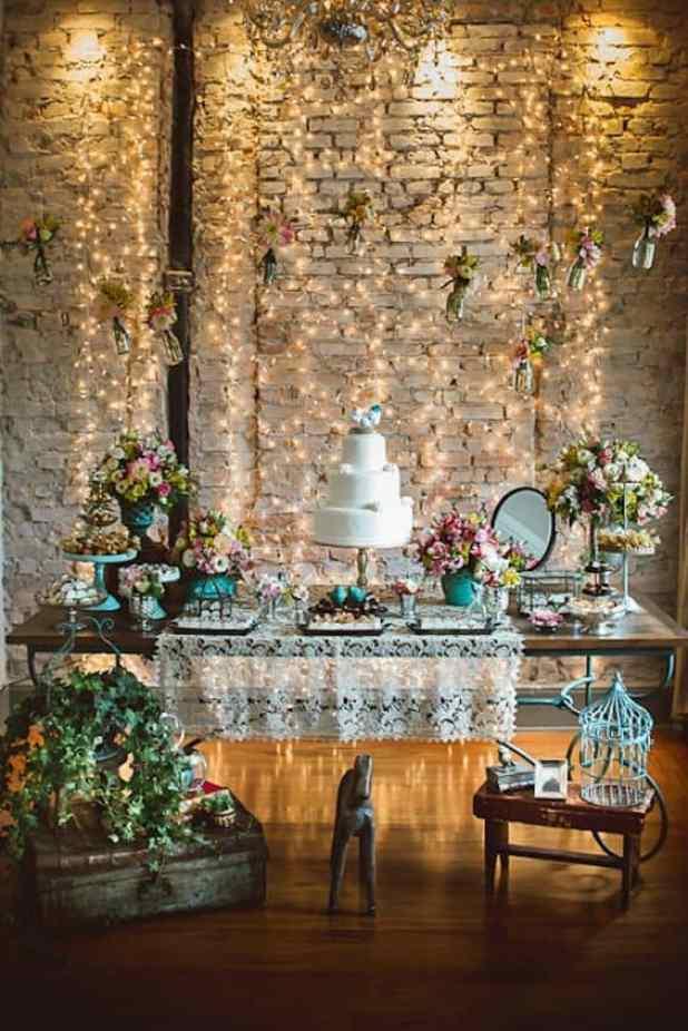 mesa de doces para mini wedding