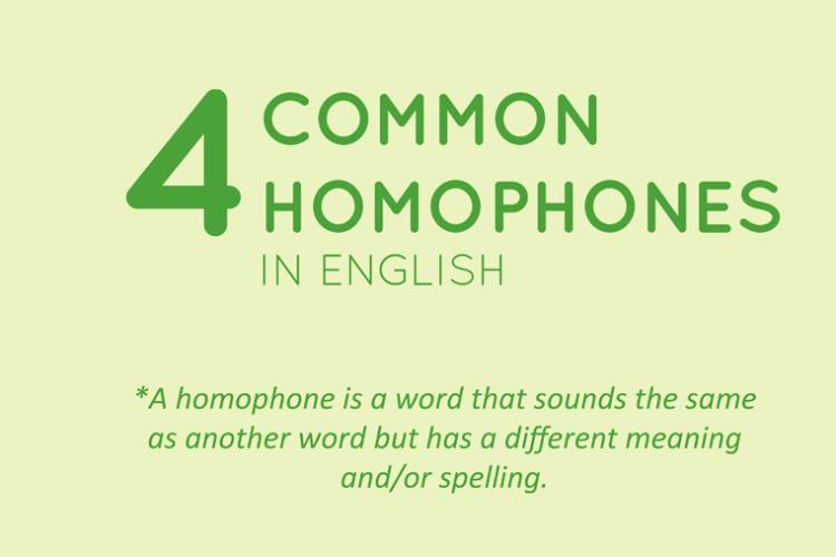 4 Common Homophones In English.