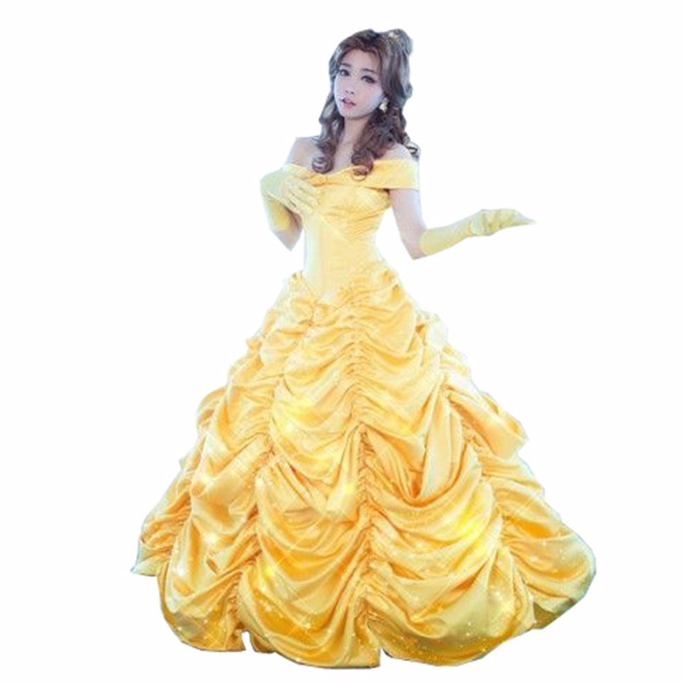 2017-font-b-Beauty-b-font-and-the-font-b-Beast-b-font-Princess-Belle-Cosplay