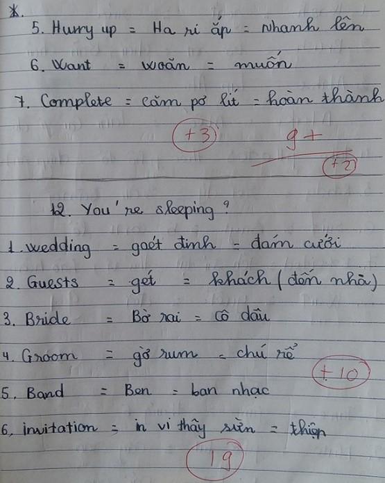 """1 ví dụ cho vấn nạn """"Việt hóa"""" tiếng Anh của người học hiện nay (hình ảnh nguồn: VietNamnet.vn)"""