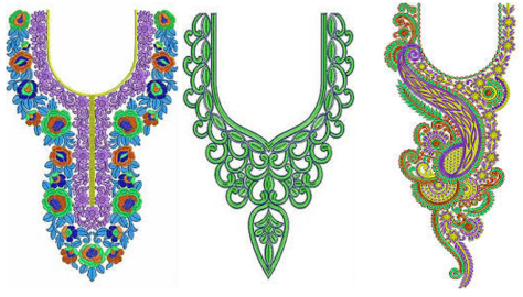 Types Of Neck Embroidery Patterns