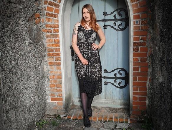 Ocultica Häkelspitzen Kleid