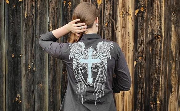 Hemd mit Print von Rock Rebel By EMP