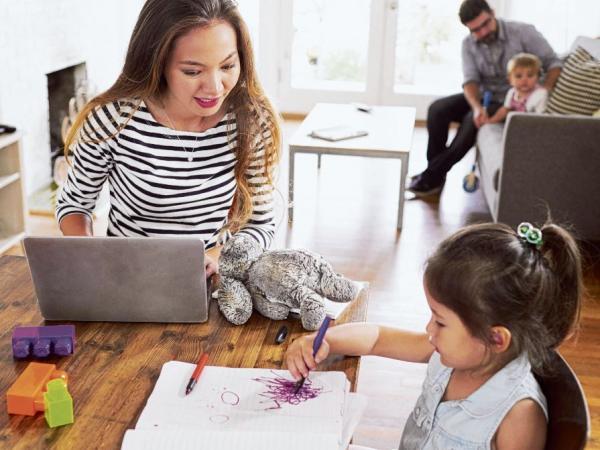 Teletrabajo y cuidado de niños