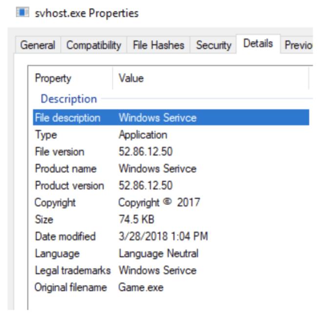svhost metadata