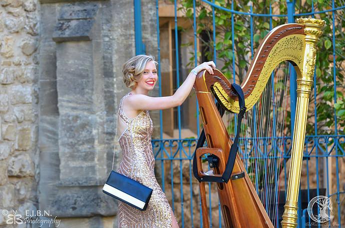 Anna Lapwood, Encore harpist