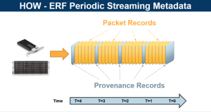 Provenance metadata records written into an ERF format packet capture stream