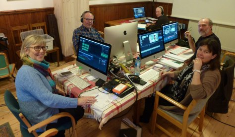 Editing class in Vedum, Sweden