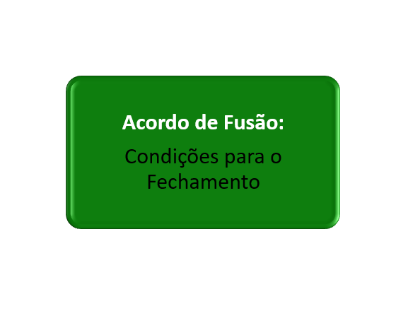 condições do acordo de fusão