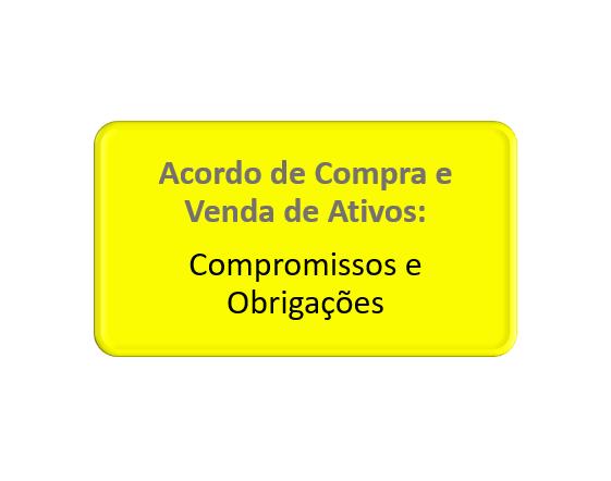compromissos e obrigações da compra e venda de ativos e bens