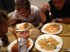 Tre pasti a pizzeria