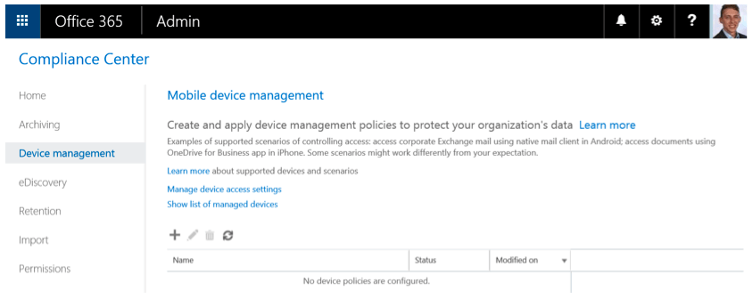 Mobile Device Management (MDM) In Office 365