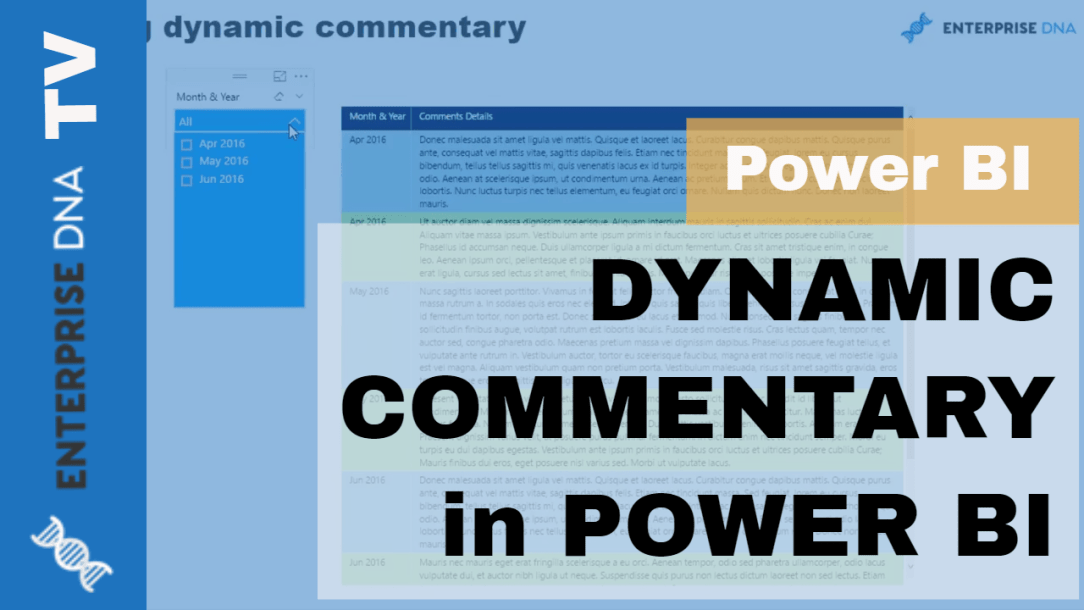 Power BI Feature: Dynamic Commentary and Collaboration