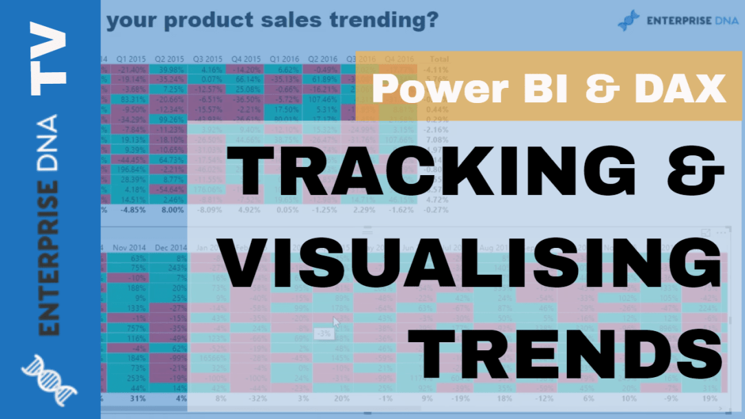 Power BI and DAX Video Tutorial Tracking and Visualising Trends Analysis