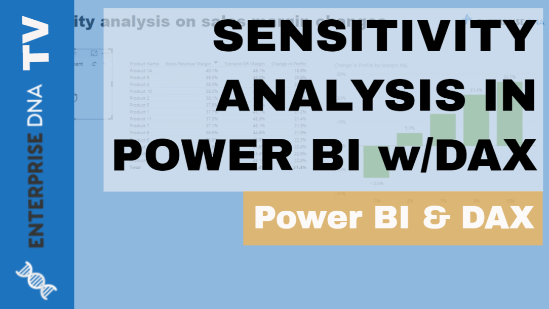 Enterprise DNA Video Tutorial Sensitivity Analysis Logic using DAX in Power BI