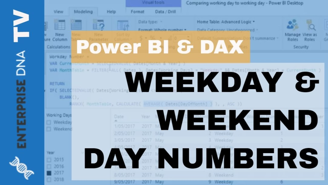 Calculate Consecutive Weekday & Weekend Days In Power BI Using DAX