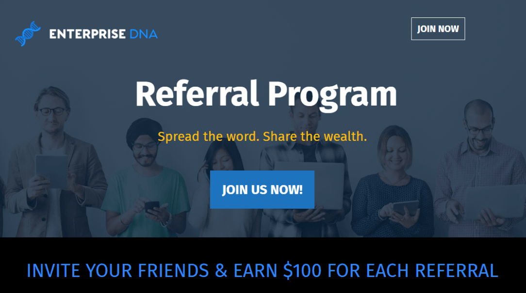 Announcement - Enterprise DNA Referral Program