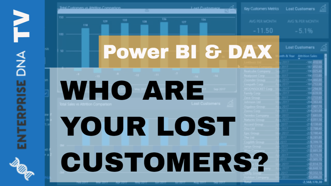 Use CALCULATE table function to determine the lost customers