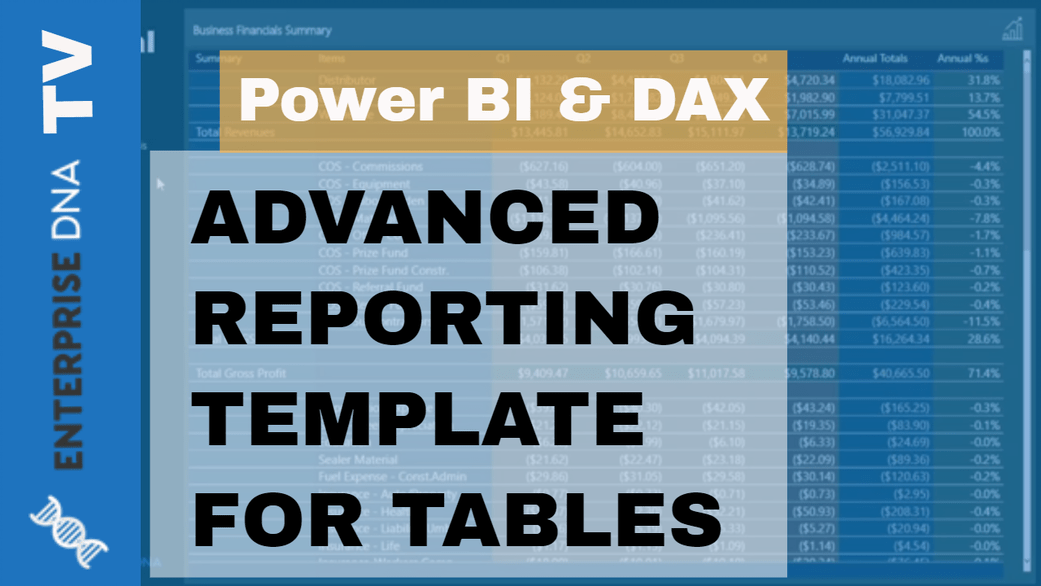 Allocating Results To Predetermine Table Templates Inside Of Power BI