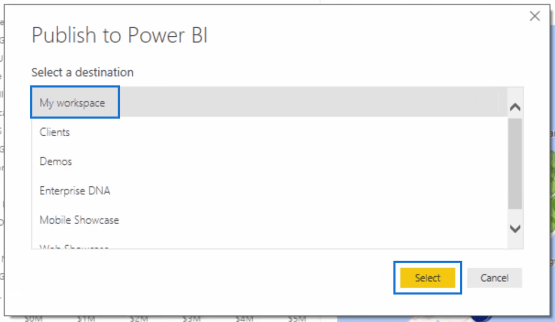 step 3 of publishing row level security model in power bi