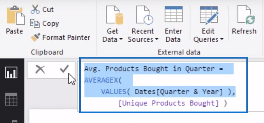 power bi data sets