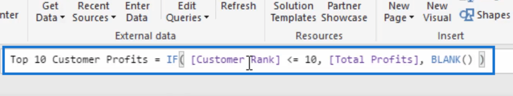 top 10 customer profits formula
