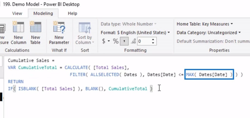 MAX function in Power BI DAX pattern