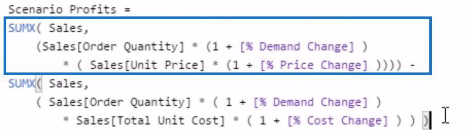 power bi what if analysis